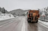 Boyabat Karayollarından aralıksız buz mücadelesi