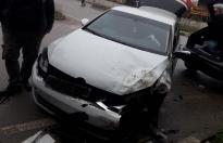 Sinop Sanayi Kavşağında Trafik Kazası
