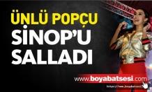 Ünlü Şarkıcı Tuğba Yurt Sinop'ta Konser Verdi