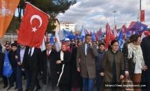 """Ak Parti Boyabat Teşkilatı """"Kutlu Yürüyüş"""" le Seçim Çalışmalarını Tamamladı"""