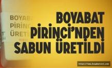 Boyabat Pirinci'nden Sabun Üretildi