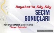 Boyabat'ta Köy Köy Seçim Sonuçları !