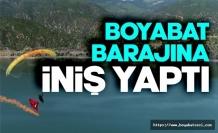 Türk bayrağı ile Boyabat Barajı üzerinde süzüldü