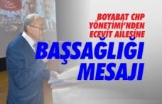 Boyabat CHP'den Ecevit Ailesine Taziye Mesajı