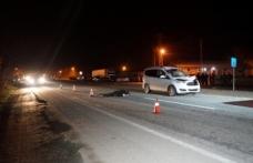 Boyabat Kastamonu yolunda yayaya araba çarptı