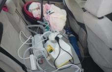 Boyabatlı minik bebek Samsun'a böyle gitti
