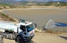 Kuruyan gölete tankerle su takviyesi