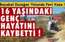 Boyabat Durağan yolunda kaza 1 kişi hayatını kaybetti