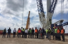 Boyabat Rüzgar Enerji Santrali inşaatı tüm hızıyla devam ediyor.