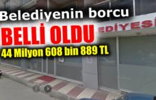 Boyabat Belediyesi'nin toplam borcu belli oldu