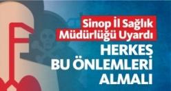 Sinop İl Sağlık Müdürlüğü Vatandaşları Uyardı