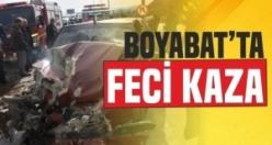 Boyabat Karacaören Mevkinde Feci Kaza