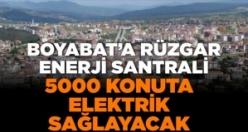 Boyabat'a Rüzgar Enerji Santrali 5000 konuta elektrik sağlayacak