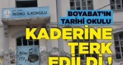 Boyabat'ın tarihi okulu kaderine terk edildi !