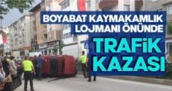 Boyabat Adnan Menderes Bulvarında otomobil takla attı !