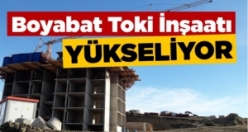 Boyabat'ta Toki inşaatı yükseliyor