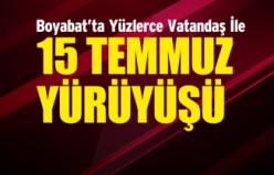 Boyabat'ta 15 Temmuz Yürüyüşü