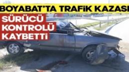 Boyabat Sanayi Mevkiinde trafik kazası !