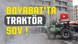 Boyabat Tarım Fuarında Traktör Şov