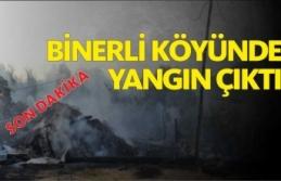 Boyabat Binerli Köyünde Yangın Çıktı
