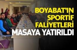 Boyabat'ın Sporu Masaya Yatırıldı