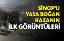 Feci kazada 2 başkan hayatını kaybetti,Olay yerinden ilk görüntüler