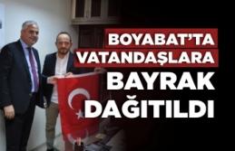 Boyabat'ta Esnaflara Bayrak Takdim Edildi