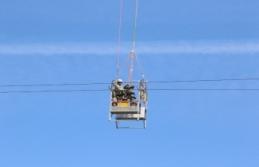 Sinop'ta yüksek gerilim hattına havadan müdahale...