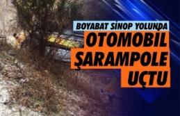 Boyabat Sinop Yolunda Kaza araç içinde sıkışanlar...