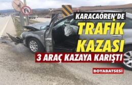 Boyabat'ta zincirleme kaza 4 yaralı