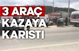 Boyabat Sanayi Kavşağında Trafik Kazası !