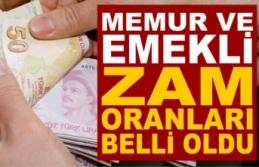 SGK Bağkur emekli, memur maaşlarına zam oranı belli oldu