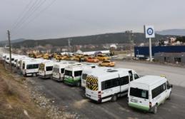Boyabat'ta servis minibüsleri yüz yüze eğitime hazır