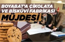 Boyabat'a çikolata ve bisküvi fabrikası kurulacak