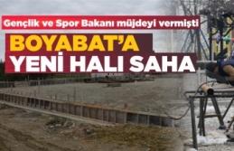 Boyabat halı saha inşaatı başladı
