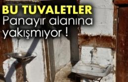 Boyabat Panayır alanında bulunan tuvaletler vatandaşların...
