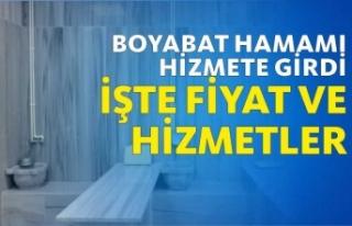 Boyabat'ın Yeni Hamamı Hizmete Açıldı