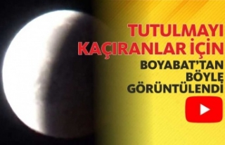 """Kanlı Ay"" TutulmasıBoyabat'tanda..."