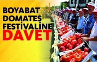 Boyabat Belediyesinden Domates Festivaline davet