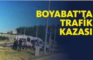 Boyabat Osman Köy Mevkinde Trafik Kazası Meydana...