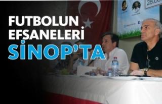 Eski milli futbolcular, Sinop'ta gençlerle buluştu