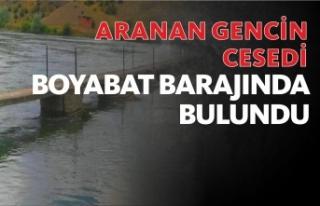 Kaybolan Gencin cesedi Boyabat baraj gölünde bulundu