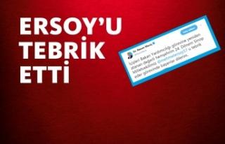 Nazım Maviş'ten Mehmet Ersoy'a Tebrik...
