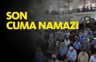 Boyabat Kemaldede Cami'nde Son Cuma Namazı Kılındı