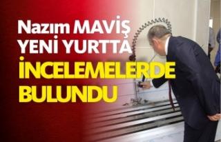 Milletvekili Maviş, KYK yurdu inşaatında incelemede...