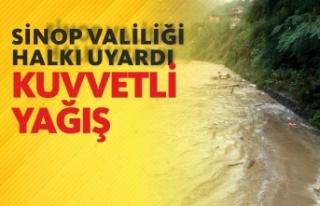 Sinop Valiliği Halkı Uyardı