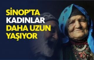Sinop'ta kadınlar, erkeklerden daha uzun yaşıyor