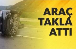Araç Takla Attı 1 Yaralı