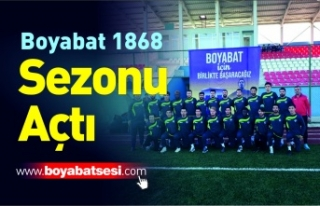 Boyabat 1868 Spor Kulübü 2018-2019 sezonunu açtı