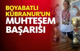 Boyabatlı Kübranur Tiryakioğlu Şampiyon Oldu